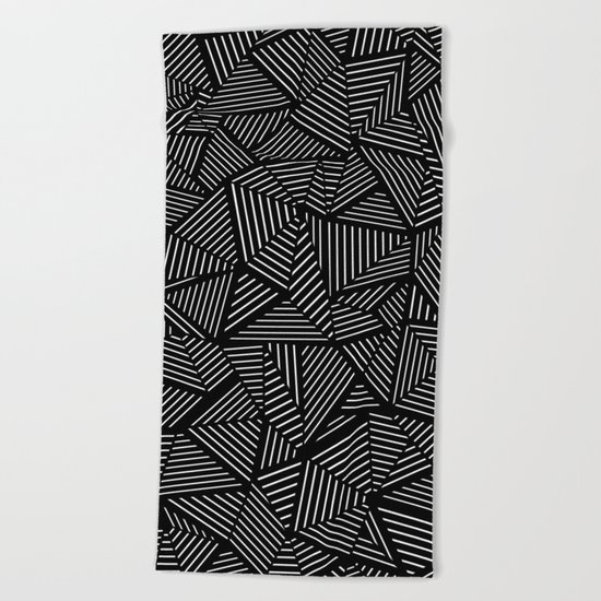 Abstraction Linear Beach Towel