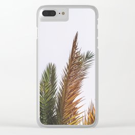 Tropical Vibes Clear iPhone Case
