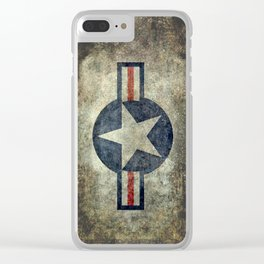 Stylized US Air force Roundel Clear iPhone Case