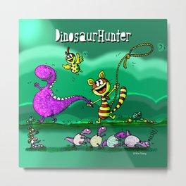 Dinosaur Hunter Metal Print