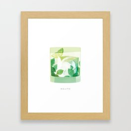 Cocktail Hour: Mojito Framed Art Print