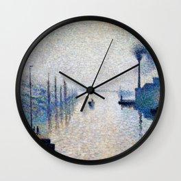 Camille Pissarro - Lacroix Island, Rouen - Digital Remastered Edition Wall Clock