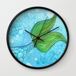 Mysterious Mermaid Wall Clock