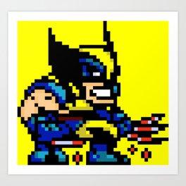 Wolvey Pixels Art Print