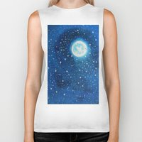 starry night Biker Tanks featuring Starry Night by maggs326