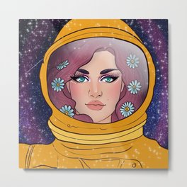Astro Chick Metal Print