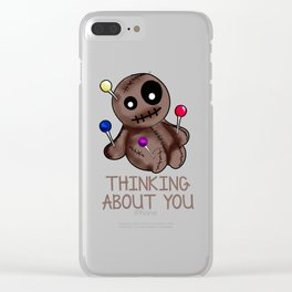 Voodoo Doll - Thinking About You Clear iPhone Case