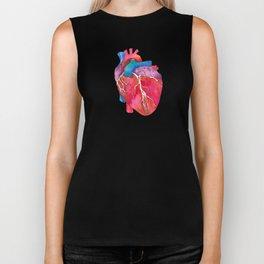 Anatomical Heart Biker Tank