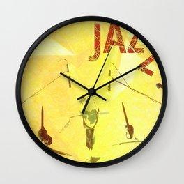 Jazz Poster Wall Clock