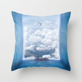 Sky Pier Throw Pillow