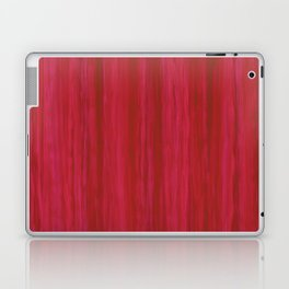 Strawberry Colored Vertical Stripes Laptop & iPad Skin