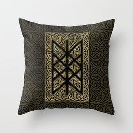 Web of Wyrd  -The Matrix of Fate Throw Pillow
