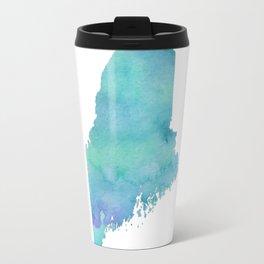 Watercolor Maine Travel Mug