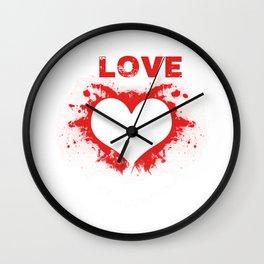 Love heart Wall Clock