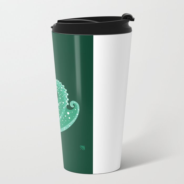 Sea Lord (Green) Metal Travel Mug