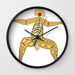 God of virility Wall Clock