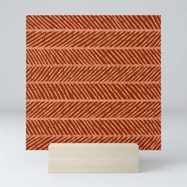 Herringbone Rust and Peach Mini Art Print