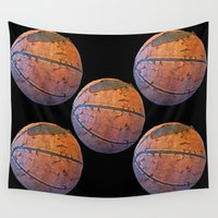 basketball Wall Tapestries featuring Basketball by gbcimages