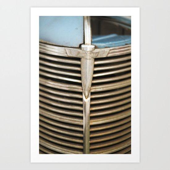 Classic Chevy Logo  - Chevy Truck Grill Art Print