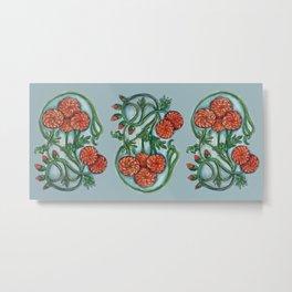 Art Nouveau Chrysanthemum  Metal Print
