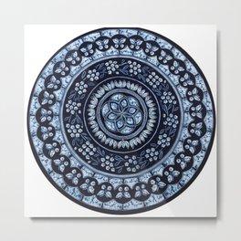 Hand Batik Cotton Round Table Cloth Roundie Tapestry - See more at: http://www.handicrunch.com/en/pr Metal Print