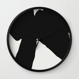 Black Coat Wall Clock