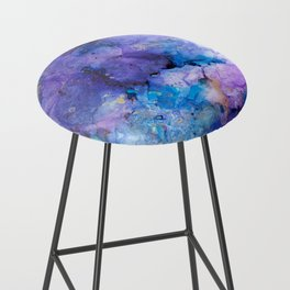 Flirting with Disaster Alcohol Ink Painting Bar Stool