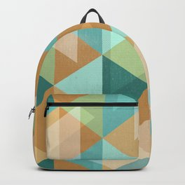 Colorful Diamond Geometric Design Backpack