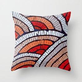 Mosaic fans Terrazzo Blobs Throw Pillow