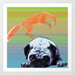 the quick brown fox Art Print