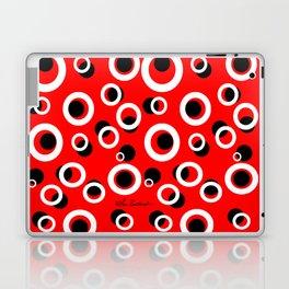 Red White Black Circles Laptop & iPad Skin