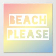 Beach Please - Rainbow Ombre Canvas Print