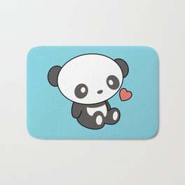 Kawaii Cute Panda With Heart Bath Mat