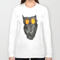 scary Long Sleeve T-shirts featuring Scary owl by Bwiselizzy