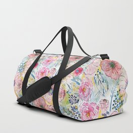 Watercolor hand paint floral design Duffle Bag