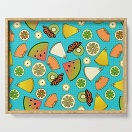 Tropical Fruit Pattern Serving Tray