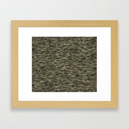 Fresh water fish camouflage Framed Art Print