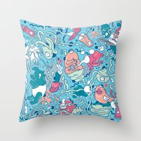 bubble Throw Pillows featuring bubble by Anukun Hamala (NHD)