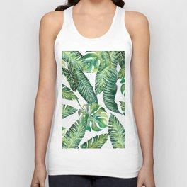 Jungle Leaves, Banana, Monstera #society6 Unisex Tank Top