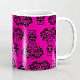 Power Tiki Girl - Hibiscus - Hot pink Coffee Mug