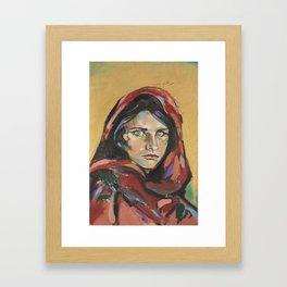 Afghan Girl (Sharbat Gula) Framed Art Print