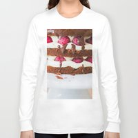 cake Long Sleeve T-shirts featuring Cake by Jovana Rikalo
