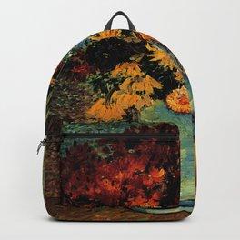 Van Gogh, vase– Van Gogh,Vincent Van Gogh,impressionist,post-impressionism,brushwork,painting Backpack