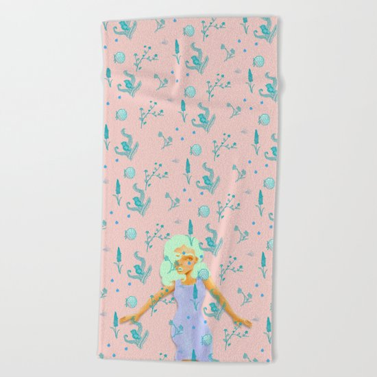 Design Based in Reality Pink Beach Towel