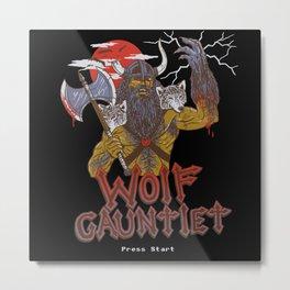 Wolf Gauntlet Metal Print