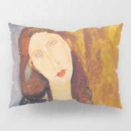Jeanne Hebuterne woman portrait by Amedeo Modigliani Pillow Sham