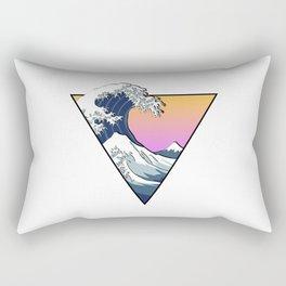 Great Wave Aesthetic Rectangular Pillow
