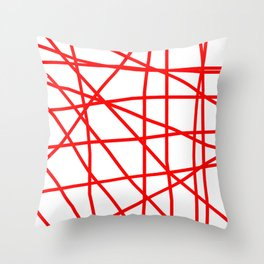 Doodle (Red & White) Throw Pillow