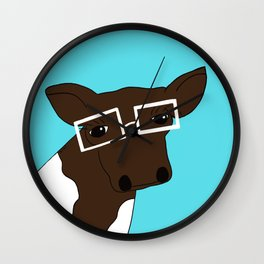 Matilda the Hipster Cow Wall Clock