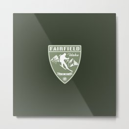 Ski Fairfield Idaho Metal Print